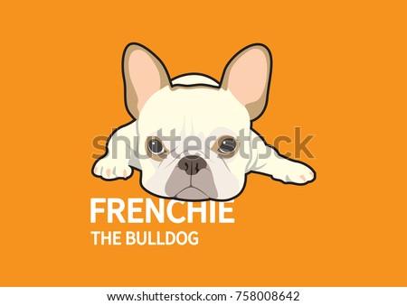 Angry Cute French Bulldog Logo