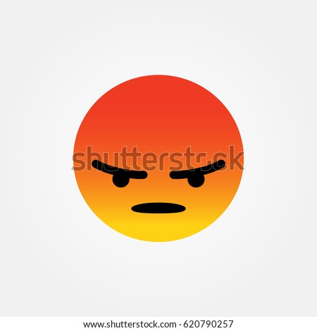 Angry emotion / reaction symbol icon vector.