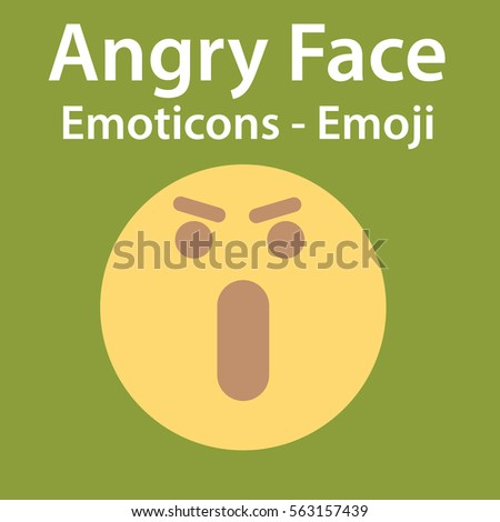 angry face emoji   emoticon