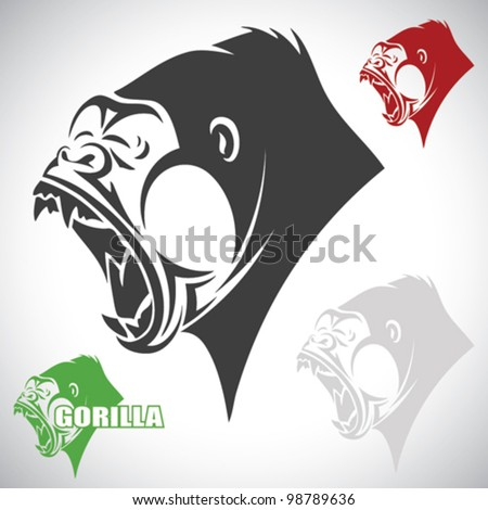 Angry gorilla - vector illustration