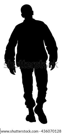 angry hooligan walking the