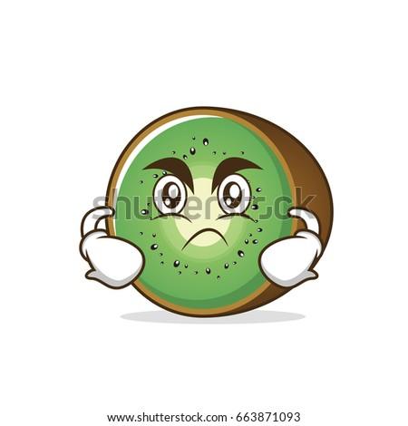 angry kiwi fruit character