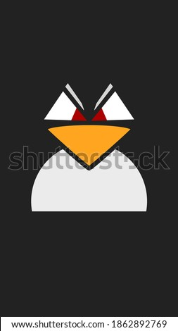 angry looking linux penguin