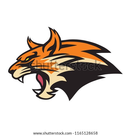 Angry Lynx Wildcat Logo Mascot Vector Illustration