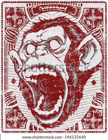 angry monkey   also available