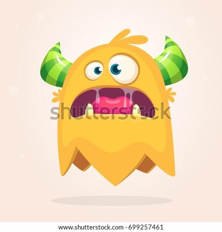 angry orange cartoon monster