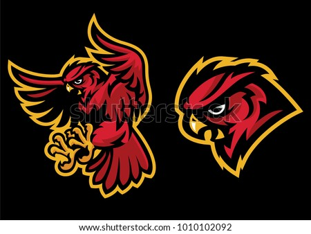 angry owl mascot with sport mascot style