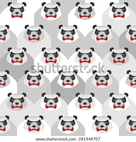 angry panda seamless vector