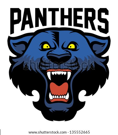 Panther Head Logos Angry Panther Head