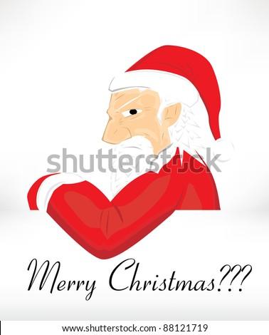 Angry Santa - stock vector