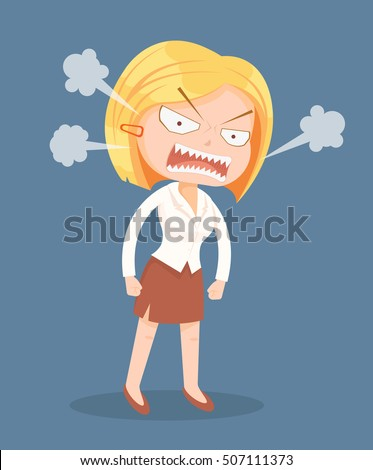 angry screaming office worker