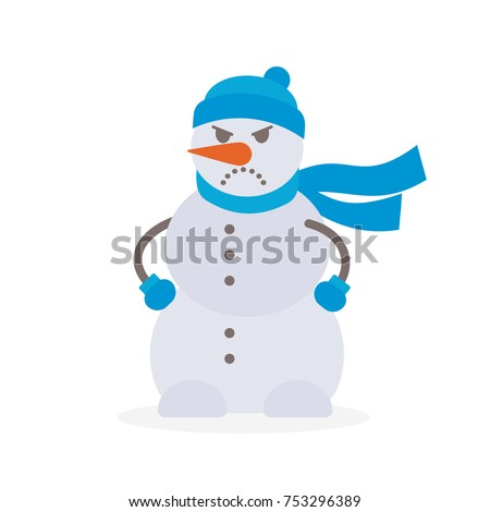 angry snowman vector