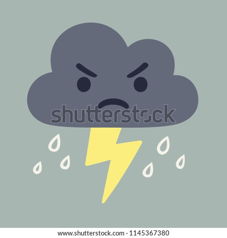 angry storm cloud drawing with