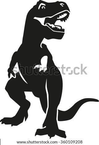 angry tyrannosaurus