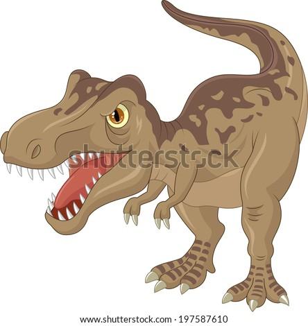 angry tyrannosaurus cartoon