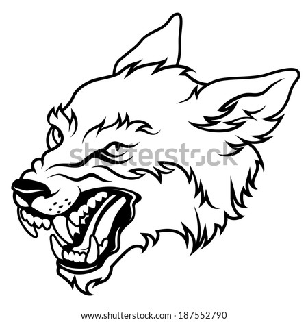 Royalty Free Wolf Running Tattoo Vector 182979782 Stock Photo