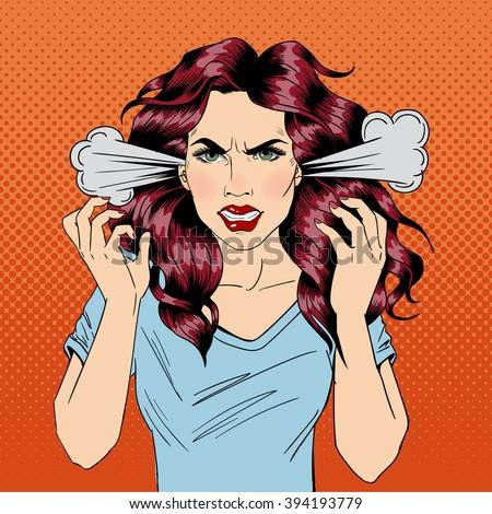 angry woman furious girl