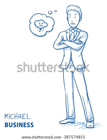 angry young man in business
