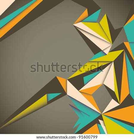 Stock Photo Angular abstraction. Vector illustration.