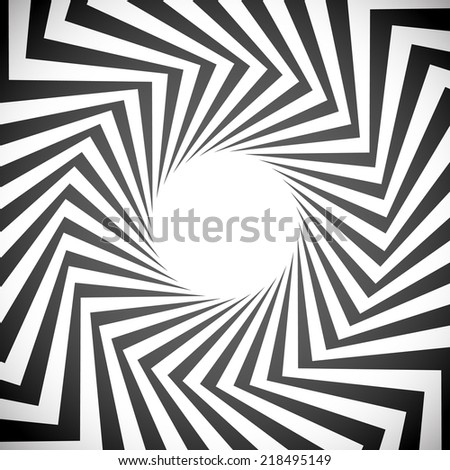 Angular spiral background. whirlpool, hypnotism, rays, rotation, abstract, whirl, whorl, swirl background