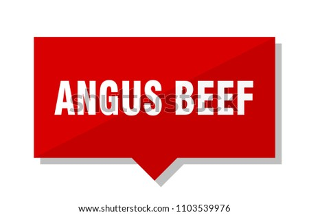 angus beef red square price tag