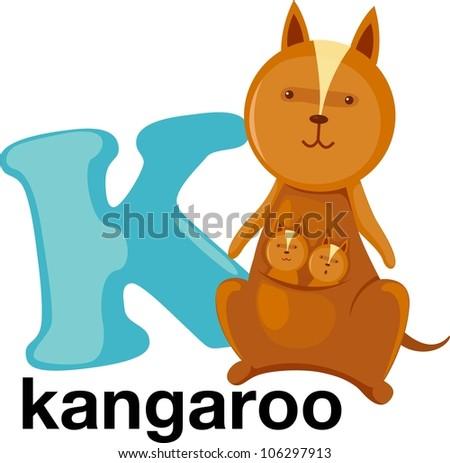 Animal alphabet letter - K