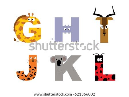 animal alphabet vector graphic