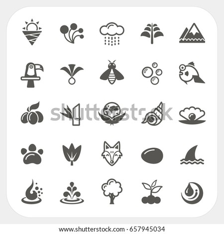 Animal and Nature icons set
