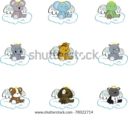 animal angel cartoon set pack2