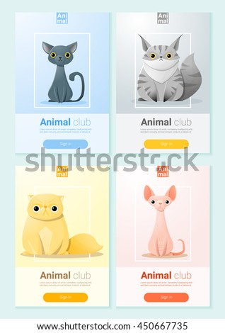 animal banner with cats for web
