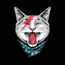 Animal cat rock style roar graphic illustration vector art t-shirt design