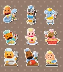 animal chef stickers