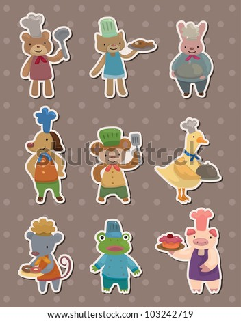 animal chef stickers