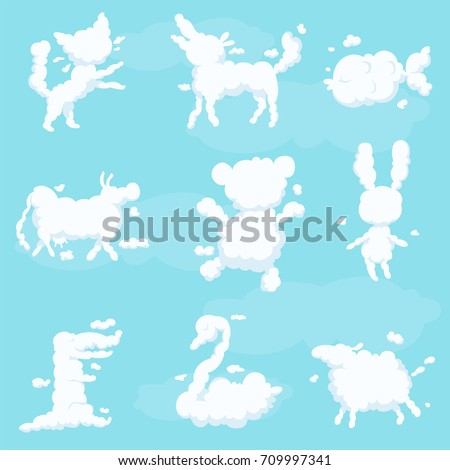 animal clouds white silhouette...