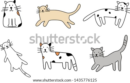 Animal collection Cat collection illustration vector
