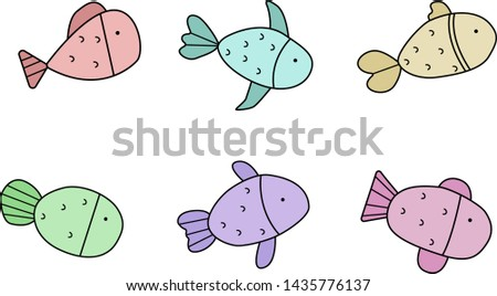 Animal collection Fish collection illustration vector