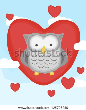animal collection, little owl in love