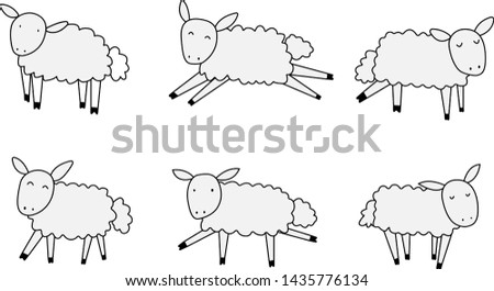 Animal collection Sheep collection illustration vector