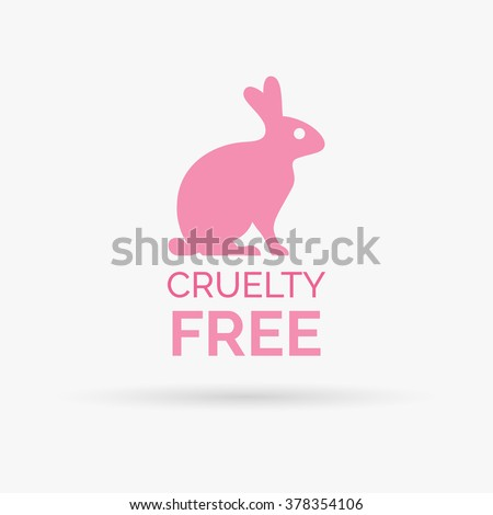 animal cruelty free icon design