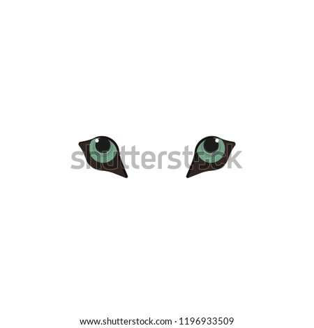 Stock Photo Animal eyes blue color icon. Elements of eyes multi colored icons. Premium quality graphic design icon on white background