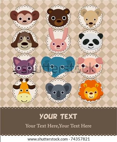 animal face card