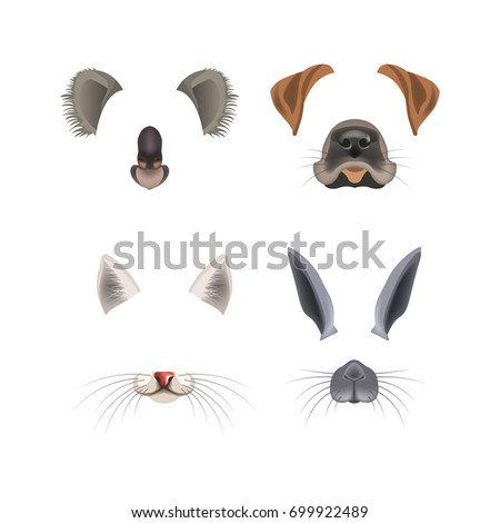animal face filter template