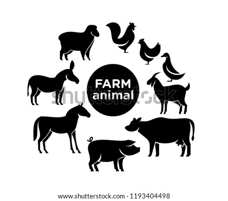 animal farm pack logo icon designs vector