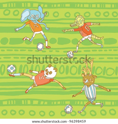 animal football pattern