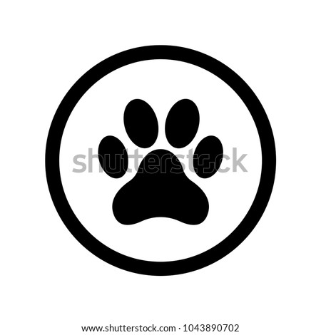 animal footprint outline vector