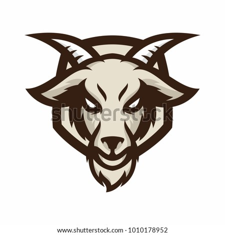 Animal Head - goat - vector logo/icon illustration mascot