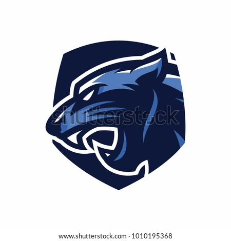 Animal Head - Panther - vector logo/icon illustration mascot
