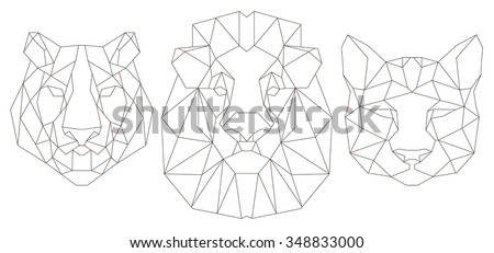 animal head triangular icon