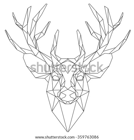 Stock Vector Animal Head Triangular Icon Geometric Trendy Line Design Vector Illustration Ready For Tattoo Or as well Reindeer Face Outline Template likewise 1055599895523499 together with Stock Vector Black And White Happy Santa Claus Head Cartoon Character additionally Cheap Heart Browning Decal. on multiple heads clip art