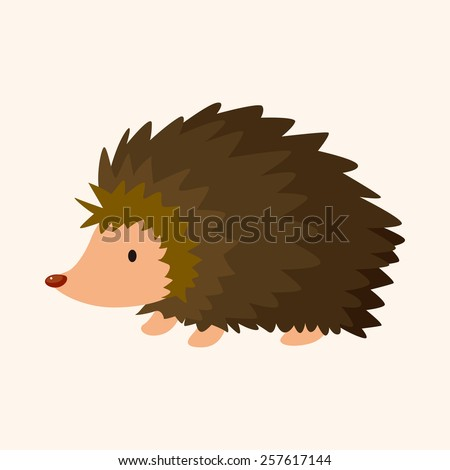 animal hedgehog cartoon theme